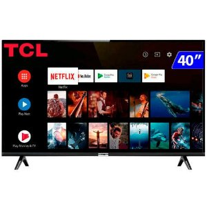 TV 40P TCL LED SMART FULL HD HDMI USB COMANDO DE VOZ (MH) - TV 40S6500FS TCL
