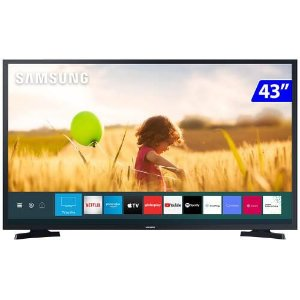 TV 43P SAMSUNG LED SMART TIZEN WIFI FULL HD - UN43T5300AGXZD