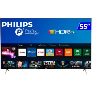 TV 55P PHILIPS LED SMART 4K WIFI USB HDMI - 55PUG7625