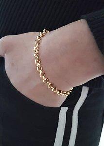 Pulseira corrente Dourada Folheada a ouro 18k Selecta Joias