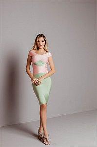 Vestido de Bandagem Sabrina Verde Candy Colors