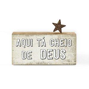 "BLOCO PALAVRAS ID MINI ""AQUI TA CHEIO DE DEUS..."""