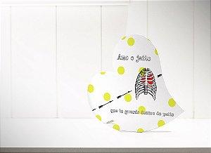 """PLACA DE MESA CORAÇÃO """"AMO O JEITO"""""""