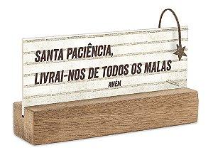 """BLOCO PLACA P """"SANTA PACIENCIA, LIVRAI-NOS DE TODOS..."""""""