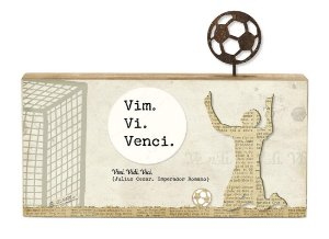 "BLOCO MADEIRA NATURAL FUTEBOL ""VIM. VI. VENCI..."""