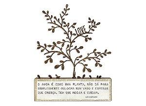 """BLOCO FERRO SILHUETA """"O AMOR É..."""""""