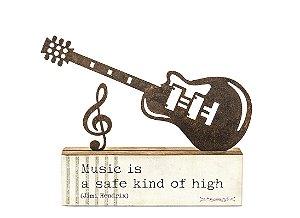 """ESCULTURA DE MESA FERRO GUITARRA """"MUSIC IS..."""""""