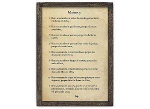 "QUADRO PAGINA BIBLIA G ""MATEUS 5..."""