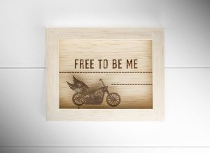 QUADRO MINI MAD. CLARA CRU FREE TO BE ME...