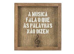 QUADRO MAD DETALHE FERRO VINTAGE VAZADO A MUSICA...