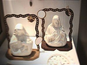 RELICARIO SAGRADO CORAÇÃO DE JESUS MADEIRA/FERRO