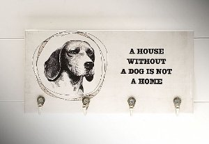 "PORTA CHAVES ""A HOUSE WITHOUT A DOG..."""