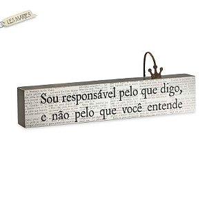 """BLOCO DE PALAVRAS ID """"SOU RESPONSÁVEL PELO..."""""""