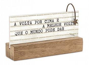 """BLOCO PLACA P """"A VOLTA..."""""""