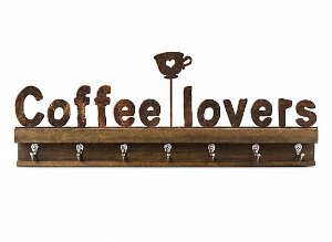 "GANCHO FERRO MADEIRA G ""COFFE LOVERS"""