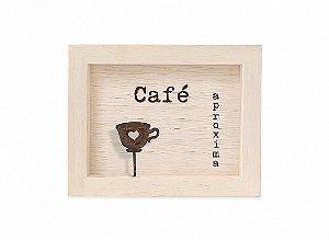 "QUADRO MINI MAD CLARA ""CAFÉ APROXIMA..."""