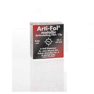 Carbono Arti-Fol Metálico Preto/Vermelho - Bausch
