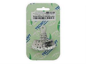 Moldeira giratória n.87 perfurada de alumínio - Tecnodent