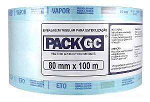 Rolo para Esterilização 8cm x 100m - Pack Gc