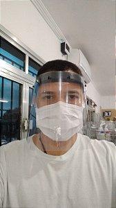 Máscara Protetora Facial Transparente com Elástico - Fiorella