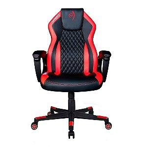 Cadeira Gamer alto padrão Elements Elemental Ignis Vermelha