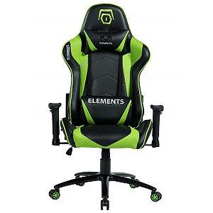 Cadeira Gamer alto padrão Elements Veda Terra Verde
