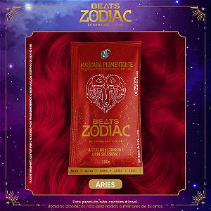 Máscara Pigmentante Beats Zodiac FOGO- Áries (Vermelho) 100g Kamaleão Color