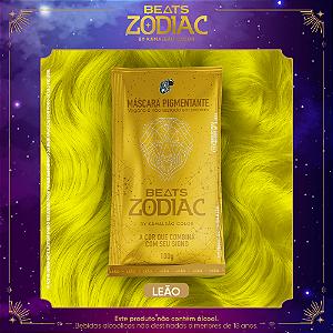 Máscara Pigmentante Beats Zodiac FOGO- Leão (Amarelo) 100g Kamaleão Color