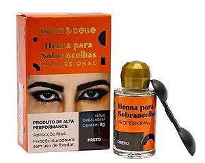 Henna Sobrancelha Della & Delle Preto 3G