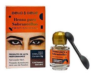 Henna Sobrancelha Della & Delle Castanho Escuro 3G