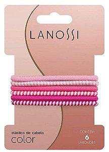 Conjunto De Elásticos Lanossi Color Pink C/6
