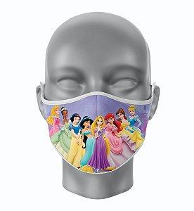 Máscara de Tecido de Dupla Camada Estampa Princesas
