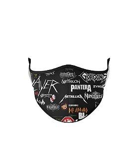 Máscara de Tecido Dupla Camada Antibacteriana  Heavy Metal