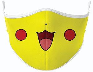 Máscara de Tecido de Dupla Camada Estampa Pikachu-1