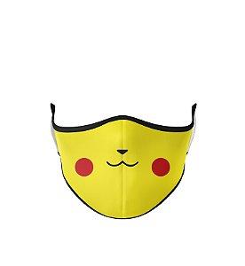 Máscara de Tecido de Dupla Camada Estampa Pikachu-2