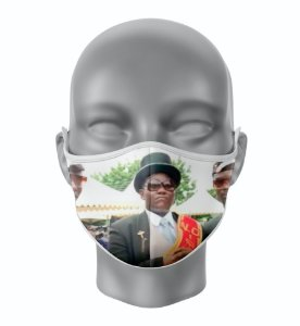 Máscara de Tecido de Dupla Camada Estampa Meme Caixão
