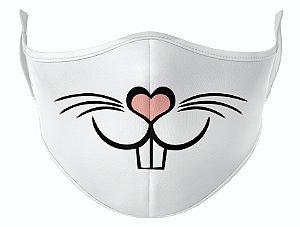 Máscara de Tecido de Dupla Camada Estampa Coelho