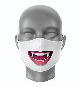 Máscara de Tecido de Dupla Camada Estampa Vampiro