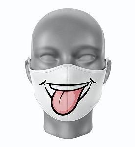 Máscara de Tecido de Dupla Camada Sorriso de Lingua de Fora