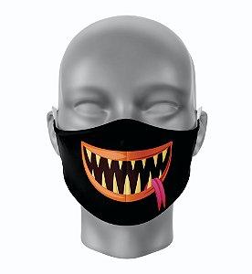 Máscara de Tecido de Dupla Camada Estampa Bocas Monstros 1