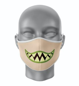 Máscara de Tecido de Dupla Camada Estampa Bocas Monstros 2