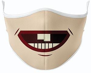 Máscara de Tecido de Dupla Camada  Risadinha com Dentinhos