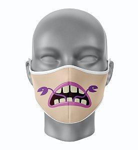 Máscara de Tecido de Dupla Camada Estampa Bocas Monstros 4
