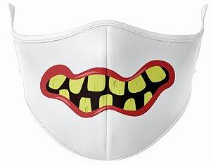 Máscara de Tecido de Dupla Camada Estampa Bocas Monstros 5