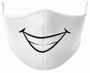 Máscara de Tecido de Dupla Camada Estampa Bocas Sorrisão