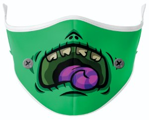 Máscara de Tecido de Dupla Camada Estampa Bocas Frankenstein