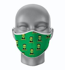Máscara de Tecido de Dupla Camada Estampa Mini Frankenstein