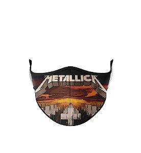 Máscara de Tecido Dupla Camada Antibacteriana  Metallica