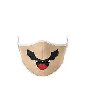 Máscara de Tecido Dupla Camada Antibacteriana Mario Bros