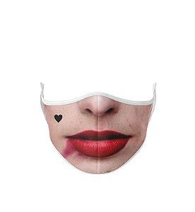 Máscara de Tecido Dupla Camada Antibacteriana Bocas Arlequina